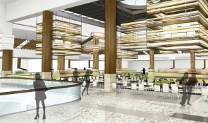 Rendering of the food court