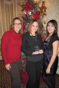 (L to R): Tiffannie Bond (media relations specialist), Melissa Biernacinski (director of media rleations), Tamara Cannella (intern)