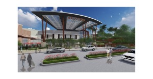 Rendering of new Galleria at Sunset entrance